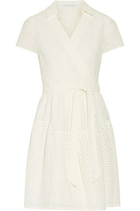 DIANE VON FURSTENBERG Kaley wrap-effect broderie anglaise cotton dress