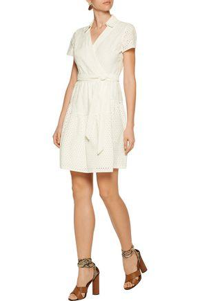DIANE VON FURSTENBERG Kaley wrap-effect broderie anglaise cotton dress