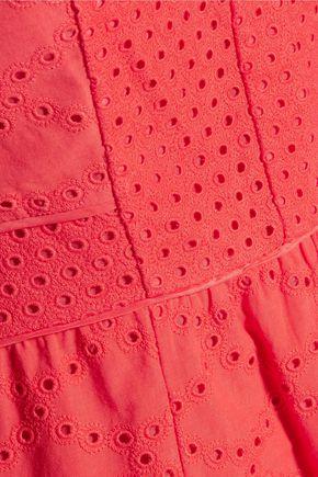 DIANE VON FURSTENBERG Skylar broderie anglaise cotton mini dress