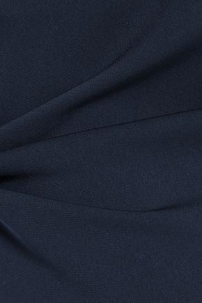 BADGLEY MISCHKA Crepe halterneck gown