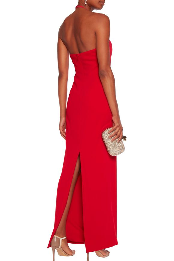 Crepe halterneck gown | BADGLEY MISCHKA | Sale up to 70% off | THE OUTNET
