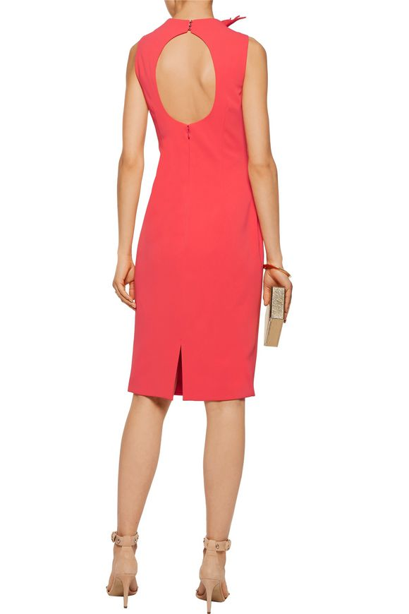 Silk organza-trimmed ruffled cutout cady dress | BADGLEY MISCHKA | Sale up  to 70% off | THE OUTNET