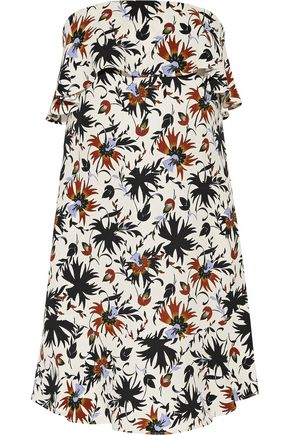 A.L.C. Romy ruffled printed silk crepe de chine mini dress