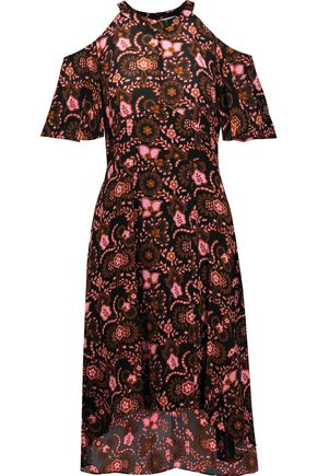 A.L.C. Emile cutout printed silk dress