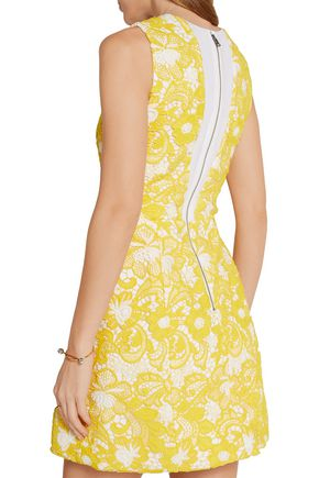 ALICE + OLIVIA Pacey guipure lace mini dress