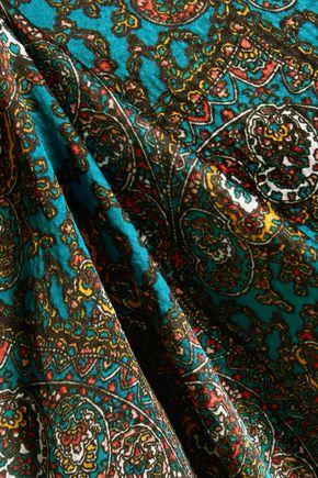 ALICE + OLIVIA Santina printed silk-cloqué maxi dress