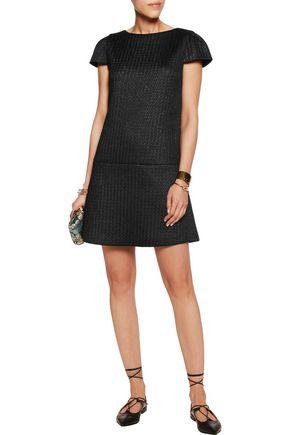 ALICE + OLIVIA Delaney Drop Waist Cotton-Jersey Dress