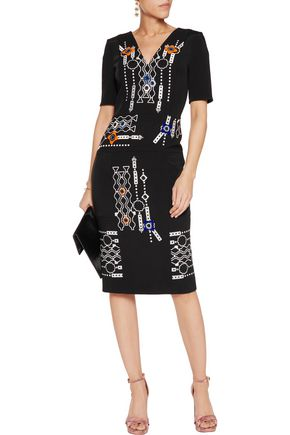 PETER PILOTTO Arcade embellished wool dress