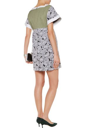PETER PILOTTO Tabitha printed silk and cotton-blend mini dress