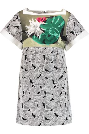 PETER PILOTTO Tabitha printed silk and cotton-blend mini dress