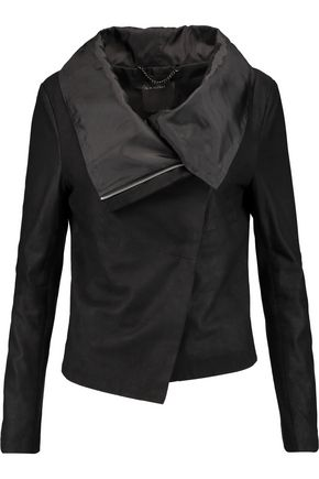 MUUBAA Draped suede biker jacket