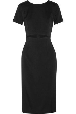 SUNO Cutout silk-blend crepe de chine midi dress