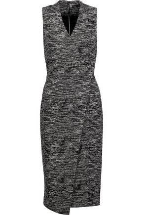 ALICE + OLIVIA Carissa wrap-effect marled stretch-knit dress