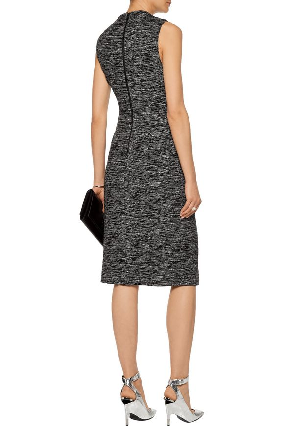 Carissa wrap-effect marled stretch-knit dress | ALICE + OLIVIA | Sale up to  70% off | THE OUTNET