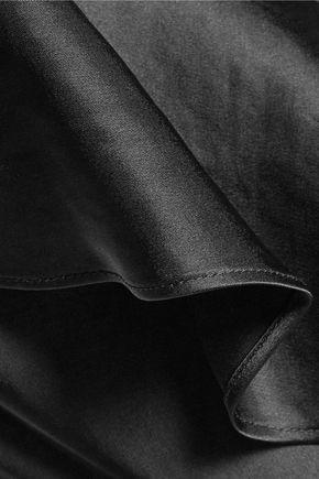 DIANE VON FURSTENBERG One-shoulder ruffle-trimmed satin maxi dress