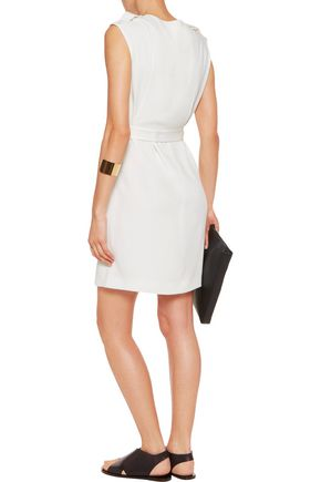 TIBI Savanna belted crepe mini dress