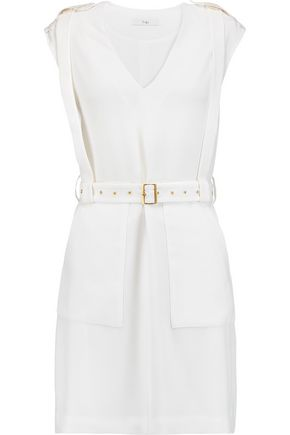 TIBI Savanna belted crepe mini dress