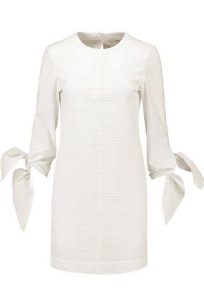 TIBI Stretch cotton-blend seersucker mini dress
