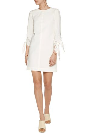 TIBI Stretch cotton-blend seersucker mini dress