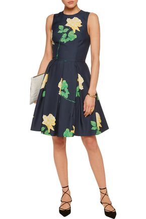 MICHAEL KORS COLLECTION Printed wool and silk-blend mini dress