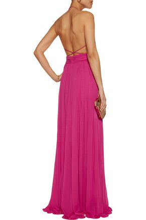 MICHAEL KORS COLLECTION Cutout gathered stretch-cady gown
