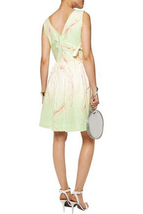 MARC BY MARC JACOBS Pleated printed cotton-blend mini dress