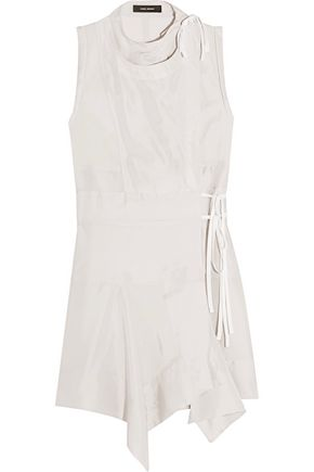 ISABEL MARANT Lewin wrap-effect silk mini dress