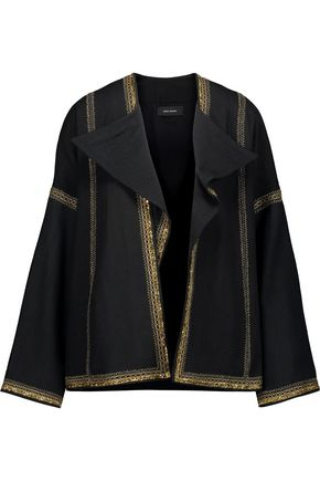 ISABEL MARANT Benett embellished metallic embroidered wool jacket