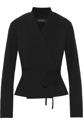 ISABEL MARANT Falco linen-blend wrap jacket