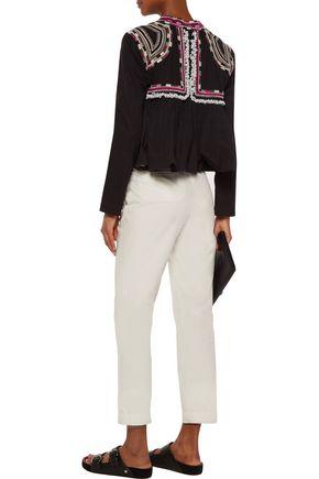ISABEL MARANT Sabriel embellished embroidered cotton-twill jacket