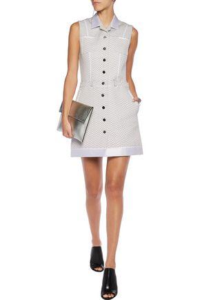 CARVEN Satin-trimmed cotton-blend jacquard mini dress