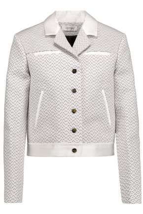 CARVEN Satin-trimmed woven cotton-blend faille jacket