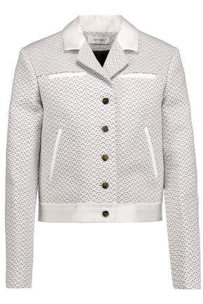 CARVEN Satin-trimmed woven cotton-blend faille jacket