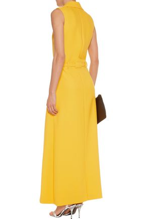 CARVEN Belted crepe maxi dress