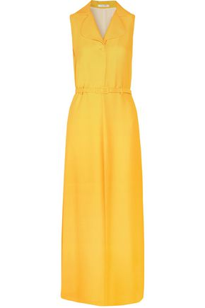 CARVEN Belted crepe maxi dress