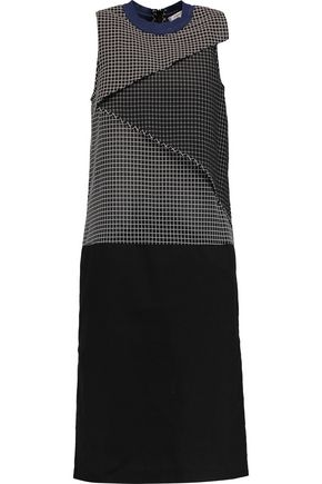 CARVEN Layered checked cotton-voile dress
