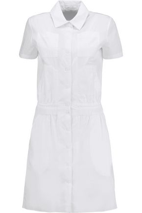 CARVEN Cotton-poplin mini shirt dress