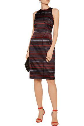 SUNO Printed stretch-cotton dress