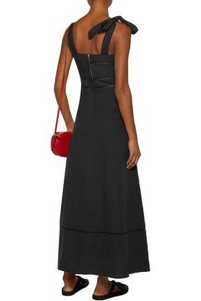 ISABEL MARANT Reign open knit-trimmed linen and cotton-blend maxi dress