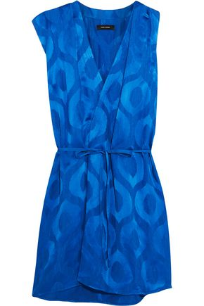 ISABEL MARANT Sudley wrap-effect satin-jacquard dress