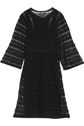 ISABEL MARANT Agate crocheted linen-blend dress