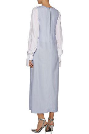 SUNO Embellished canvas midi dress