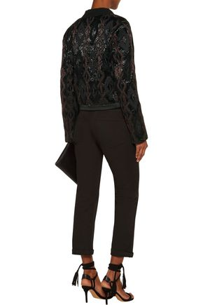 ISABEL MARANT Lynley embellished wool-blend crepe jacket