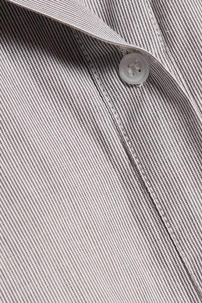 W118 by WALTER BAKER Tanna pinstriped cotton-poplin mini dress