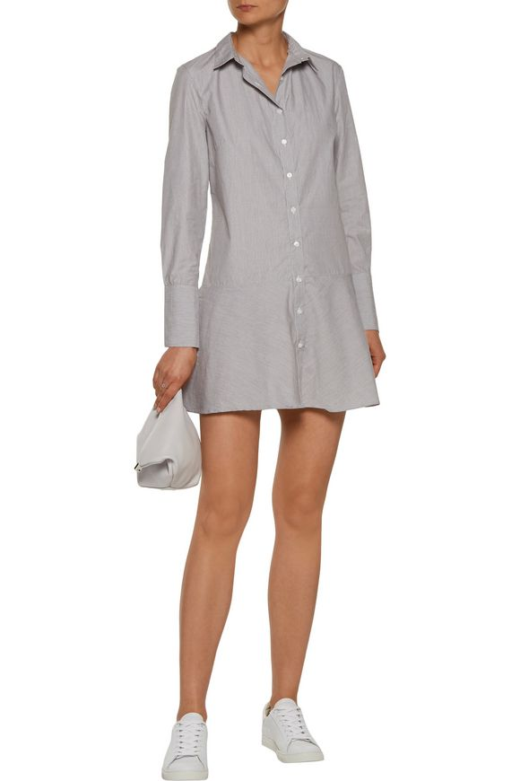 Tanna pinstriped cotton-poplin mini dress | W118 by WALTER BAKER | Sale up  to 70% off | THE OUTNET
