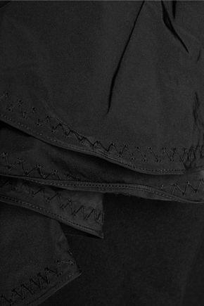 •ELLERY• Molotov ruffled satin-crepe midi dress