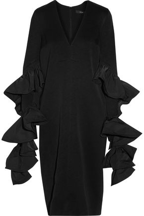 •ELLERY• Molotov ruffled satin-crepe midi dress