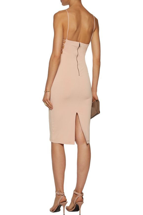 Kia open-back lattice-trimmed stretch-jersey dress | ALICE + OLIVIA | Sale  up to 70% off | THE OUTNET