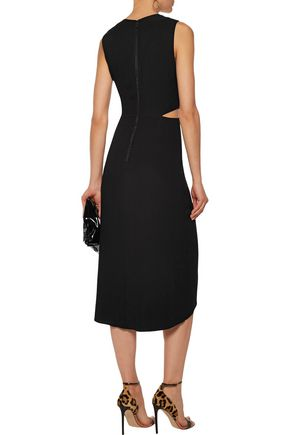 ALICE + OLIVIA Nia knotted cutout crepe dress