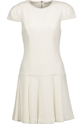 ALICE + OLIVIA Darleen pleated cloqué mini dress